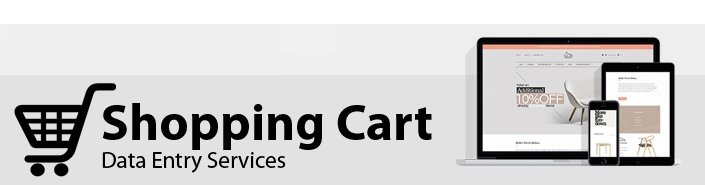 Shopping Cart Data Entry Services